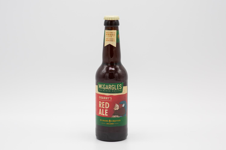 En recension av det Irländska Ale ölet Mcgargles Granny's Red Ale från bryggeriet Rye River Brewing Company i Dublin. Fotograf: Thomas Näslund på affluenza.se.
